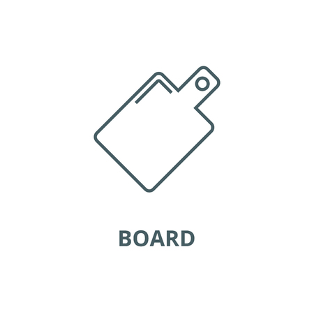 Board line icon, vector. Board outline sign, concept symbol, illustration