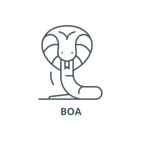 Boa line icon, vector. Boa outline sign, concept symbol, illustration