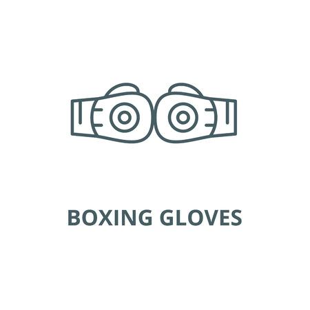 Boxing gloves line icon, vector. Boxing gloves outline sign, concept symbol, illustration