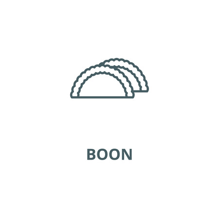 Boon line icon, vector. Boon outline sign, concept symbol, illustration