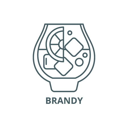 Brandy line icon, vector. Brandy outline sign, concept symbol, illustration 向量圖像