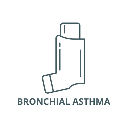 Bronchial asthma line icon, vector. Bronchial asthma outline sign, concept symbol, illustration Stock Illustratie