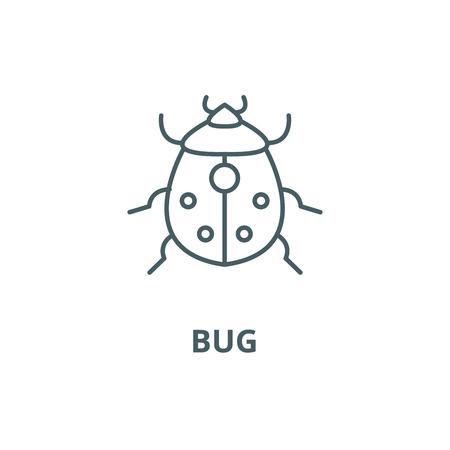 Bug line icon, vector. Bug outline sign, concept symbol, illustration