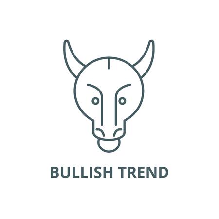 Bullish trend line icon, vector. Bullish trend outline sign, concept symbol, illustration