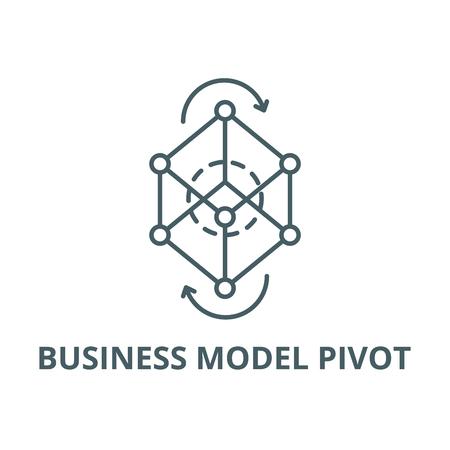 Business model pivot line icon, vector. Business model pivot outline sign, concept symbol, illustration Illustration