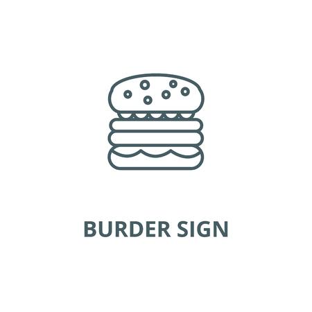 Burder sign line icon, vector. Burder sign outline sign, concept symbol, illustration