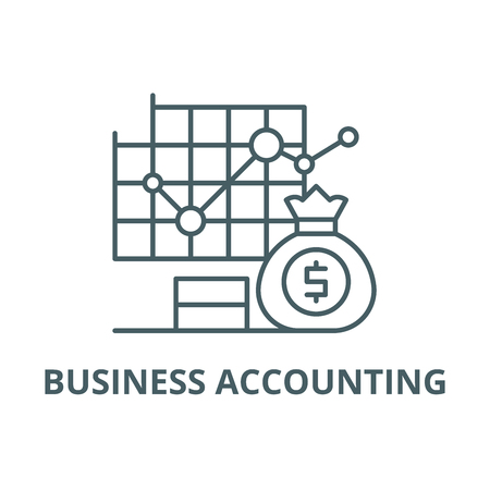 Business accounting line icon, vector. Business accounting outline sign, concept symbol, illustration Ilustrace