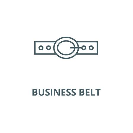 Business belt line icon, vector. Business belt outline sign, concept symbol, illustration Stok Fotoğraf - 123749467