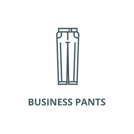 Business pants line icon, vector. Business pants outline sign, concept symbol, illustration