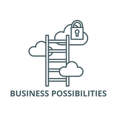 Business possibilities line icon, vector. Business possibilities outline sign, concept symbol, illustration 向量圖像