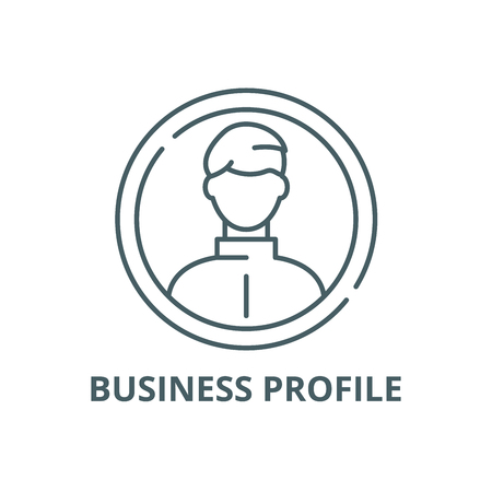 Business profile line icon, vector. Business profile outline sign, concept symbol, illustration Иллюстрация