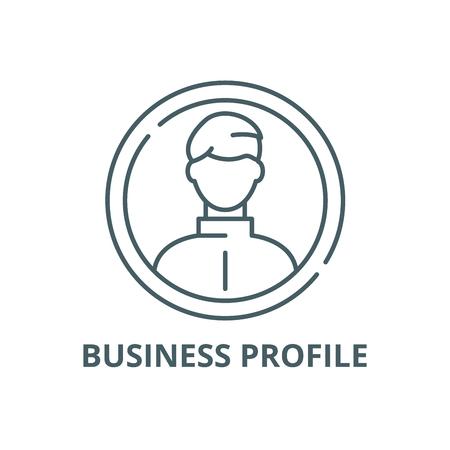 Business profile line icon, vector. Business profile outline sign, concept symbol, illustration Illustration