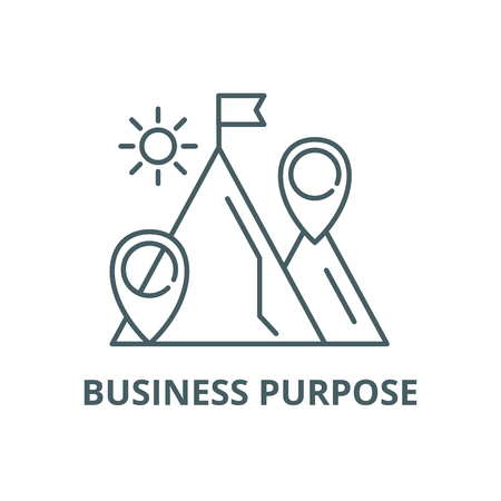 Business purpose line icon, vector. Business purpose outline sign, concept symbol, illustration