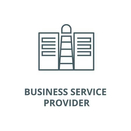 Business service provider conept line icon, vector. Business service provider conept outline sign, concept symbol, illustration