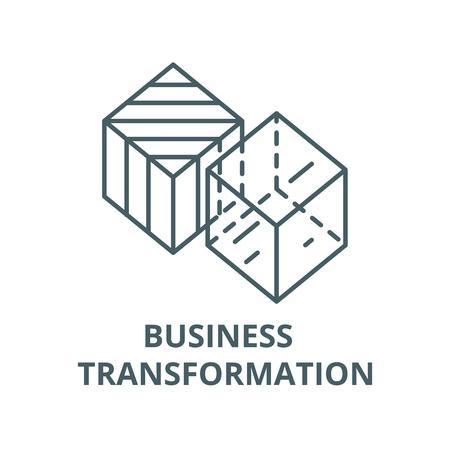 Business transformation line icon, vector. Business transformation outline sign, concept symbol, illustration