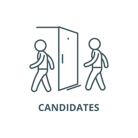 Candidates for the vacancy line icon, vector. Candidates for the vacancy outline sign, concept symbol, illustration