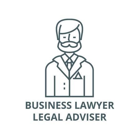 Businessman,business lawyer,legal adviser line icon, vector. Businessman,business lawyer,legal adviser outline sign, concept symbol, illustration