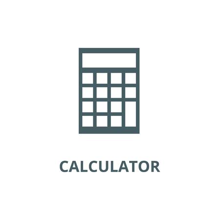 Calculator illustration line icon, vector. Calculator illustration outline sign, concept symbol, illustration Illustration