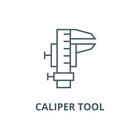 Caliper tool line icon, vector. Caliper tool outline sign, concept symbol, illustration