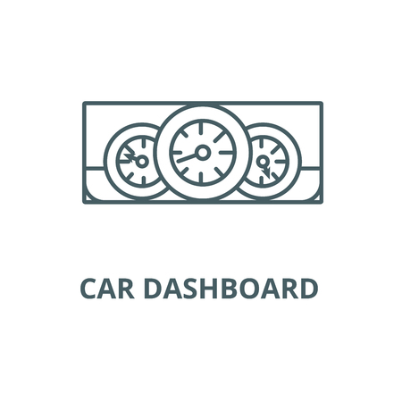 Car dashboard  line icon, vector. Car dashboard  outline sign, concept symbol, illustration Stock Illustratie