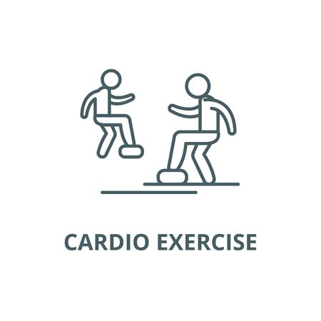 Cardio exercise line icon, vector. Cardio exercise outline sign, concept symbol, illustration Stock Vector - 123749605