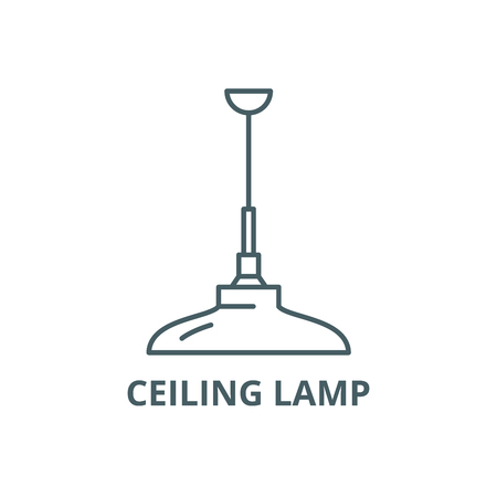 Ceiling lamp line icon, vector. Ceiling lamp outline sign, concept symbol, illustration