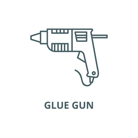 Caulk gun,glue gun line icon, vector. Caulk gun,glue gun outline sign, concept symbol, illustration