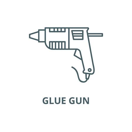 Caulk gun,glue gun line icon, vector. Caulk gun,glue gun outline sign, concept symbol, illustration
