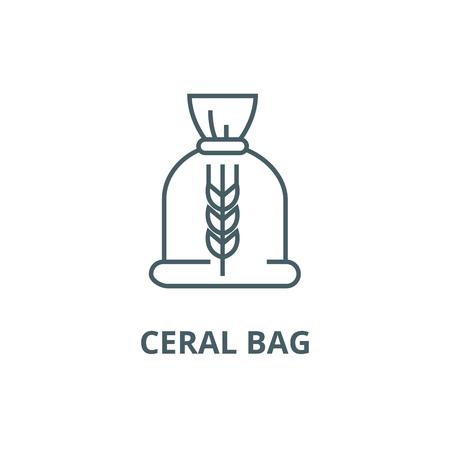 Ceral bag line icon, vector. Ceral bag outline sign, concept symbol, illustration