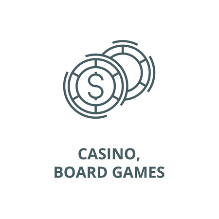 Casino,board games line icon, vector. Casino,board games outline sign, concept symbol, illustration