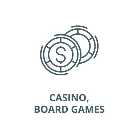 Casino,board games line icon, vector. Casino,board games outline sign, concept symbol, illustration