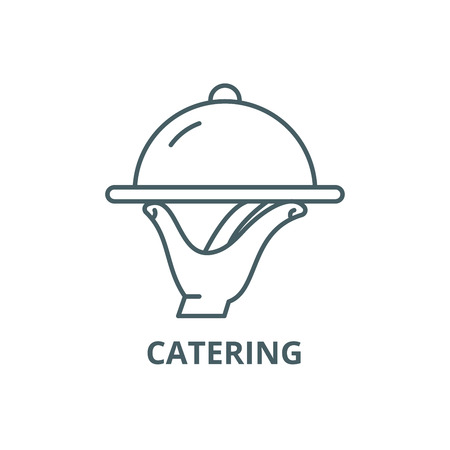 Catering line icon, vector. Catering outline sign, concept symbol, illustration