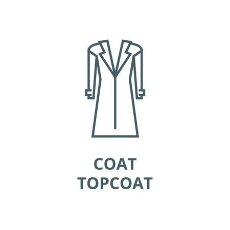 Coat,topcoat line icon, vector. Coat,topcoat outline sign, concept symbol, illustration