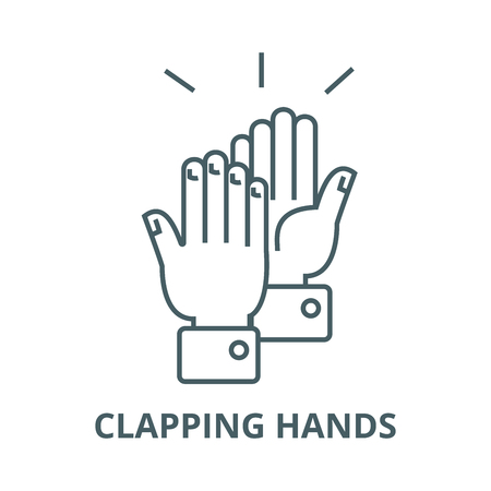 Clapping hands line icon, vector. Clapping hands outline sign, concept symbol, illustration