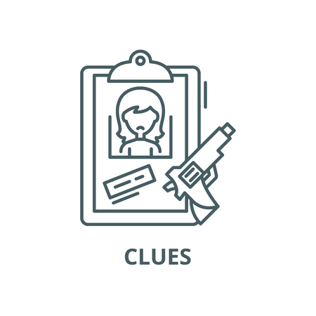 Clues line icon, vector. Clues outline sign, concept symbol, illustration