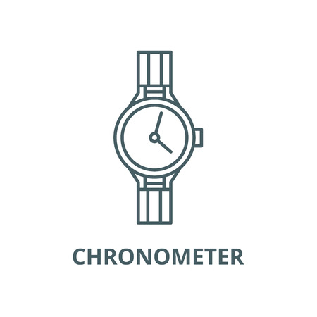 Chronometer line icon, vector. Chronometer outline sign, concept symbol, illustration Illustration