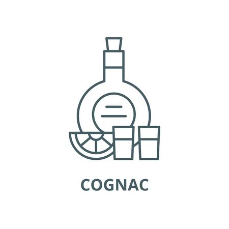 Cognac line icon, vector. Cognac outline sign, concept symbol, illustration