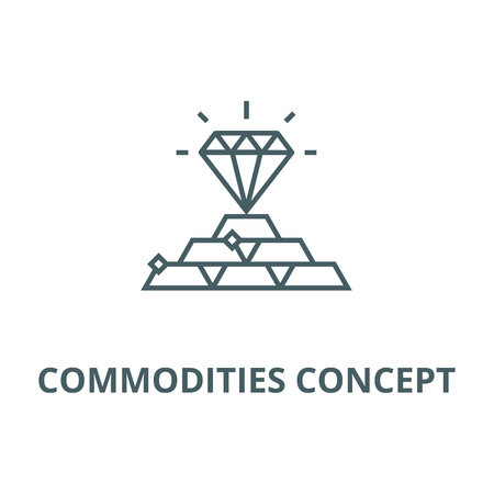 Commodities concept line icon, vector. Commodities concept outline sign, concept symbol, illustration