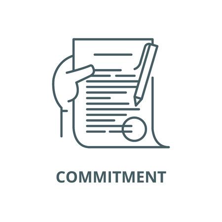 Icône de ligne d'engagement, vecteur. Signe de contour d'engagement, symbole de concept, illustration
