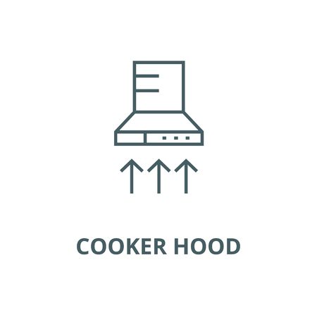 Cooker hood line icon, vector. Cooker hood outline sign, concept symbol, illustration