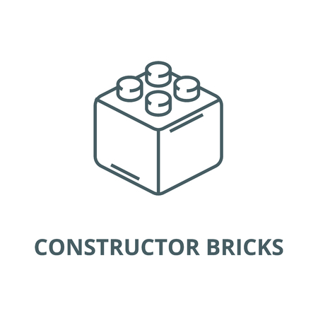 Constructor bricks line icon, vector. Constructor bricks outline sign, concept symbol, illustration Illustration
