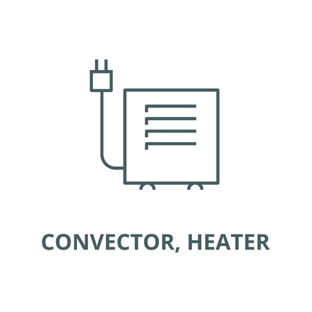 Convector, heater line icon, vector. Convector, heater outline sign, concept symbol, illustration
