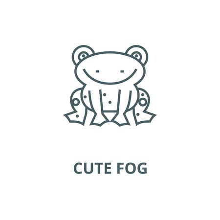 Cute fog line icon, vector. Cute fog outline sign, concept symbol, illustration