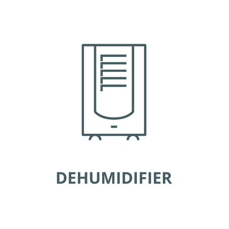 Dehumidifier line icon, vector. Dehumidifier outline sign, concept symbol, illustration Illustration