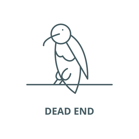Dead end line icon, vector. Dead end outline sign, concept symbol, illustration