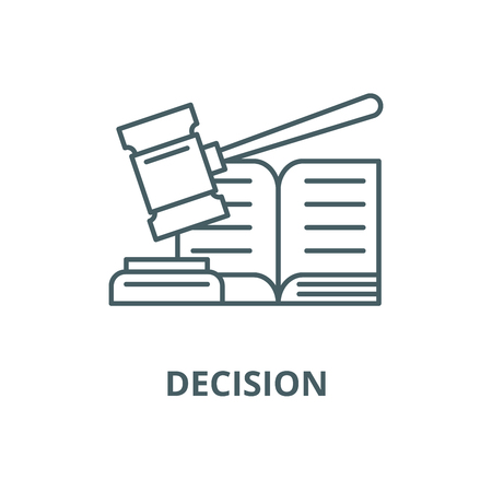 Decision line icon, vector. Decision outline sign, concept symbol, illustration