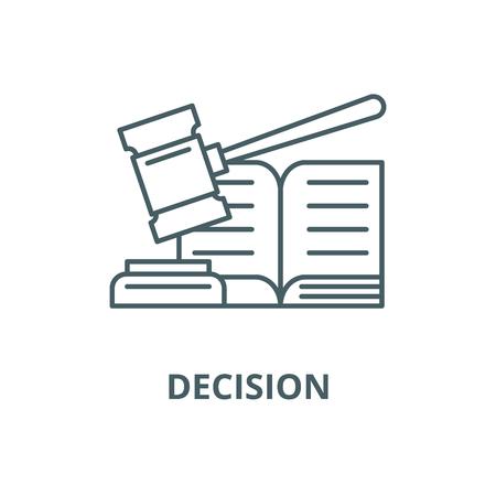 Icono de línea de decisión, vector. Signo de esquema de decisión, símbolo conceptual, Ilustración