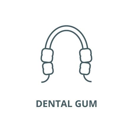 Dental gum line icon, vector. Dental gum outline sign, concept symbol, illustration