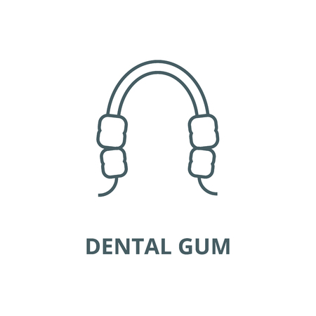 Dental gum line icon, vector. Dental gum outline sign, concept symbol, illustration