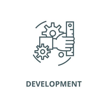 Development line icon, vector. Development outline sign, concept symbol, illustration Illustration